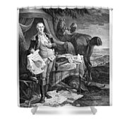 Washington At Yorktown Shower Curtain