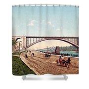 Washington Bridge 1901 Shower Curtain