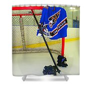 Washington Capitals Blue Away Hockey Jersey Shower Curtain