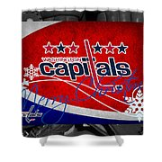 Washington Capitals Christmas Shower Curtain