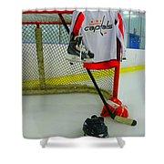 Washington Capitals Home Hockey Jersey Shower Curtain