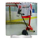 Washington Capitals Mike Green Away Hockey Jersey Shower Curtain