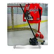 Washington Capitals Nicklas Backstrom Home Hockey Jersey Shower Curtain