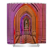 Washington Cathedral Light Show Shower Curtain