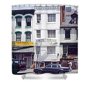 Washington Chinatown In The 1980s Shower Curtain by Thomas Marchessault