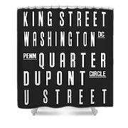 Washington City Subway Sign Shower Curtain
