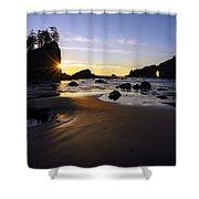 Washington Coast Evening Sunstar Tide Shower Curtain