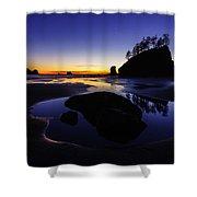 Washington Coast Sunset Pool Of Radiance Shower Curtain