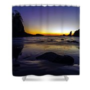 Washington Coast Tides Retreat Shower Curtain