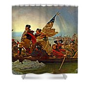 Washington Crossing The Delaware Emanuel Leutze 1851 Shower Curtain