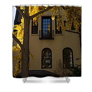 Washington D C Facades - Dupont Circle Neighborhood In Yellow Shower Curtain