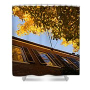 Washington D C Facades - Reflecting On Autumn In Georgetown  Shower Curtain