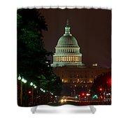 Washington Dc At Night Shower Curtain