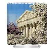 Washington Dc Cherry Blossom Supreme Court Shower Curtain