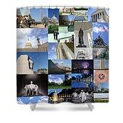 Washington D. C. Collage 3 Shower Curtain