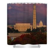 Washington Dc Iconic Landmarks Shower Curtain