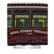 Washington Dc Trolley Shower Curtain