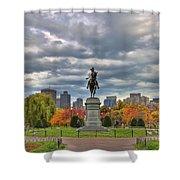 Washington In The Public Garden Shower Curtain by Joann Vitali