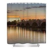 Washington Landmarks At Dawn I Shower Curtain
