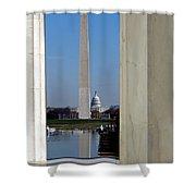 Washington Landmarks Shower Curtain