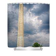 Washington Monument 2 Shower Curtain