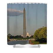 Washington Monument And Capitol Building-2 Shower Curtain