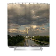 Washington Monument And Capitol Shower Curtain