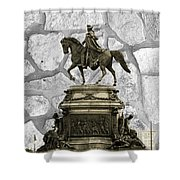 Washington Monument At Eakins Oval Shower Curtain