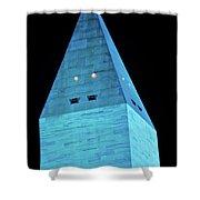 Washington Monument At Night Shower Curtain