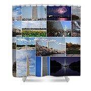 Washington Monument Collage 2 Shower Curtain