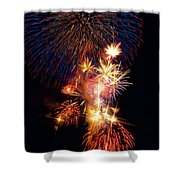 Washington Monument Fireworks 3 Shower Curtain by Stuart Litoff