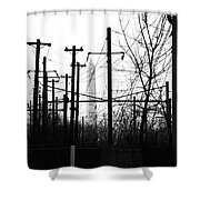 Washington Monument From The Train Yard. Washington Dc Shower Curtain