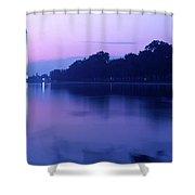 Washington Monument Reflecting In Pool Shower Curtain
