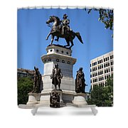 Washington Monument - Richmond Va Shower Curtain