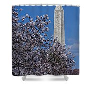 Washington Monument Shower Curtain by Susan Candelario