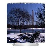 Washington Monument Winter  Shower Curtain