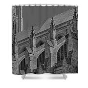 Washington National Cathedral  Bw Shower Curtain