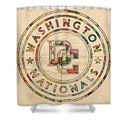 Washington Nationals Poster Vintage Shower Curtain