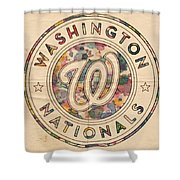 Washington Nationals Vintage Art Shower Curtain