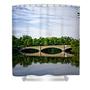 Washington Road Bridge Over Lake Carnegie Princeton Shower Curtain