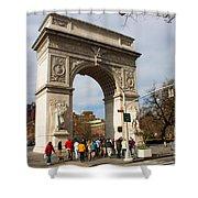 Washington Square Arch New York City Shower Curtain