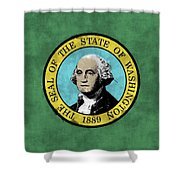 Washington State Flag Shower Curtain