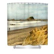 Washington State Seastacks Shower Curtain