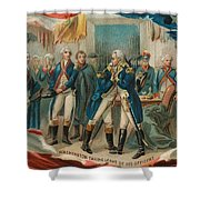 Washington Taking Leave Of His Officers Shower Curtain