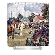 Washingtons Army, 1776 Shower Curtain