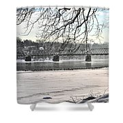 Washingtons Crossing Winter Shower Curtain