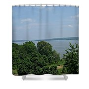 Washington's View From Mt. Vernon Shower Curtain