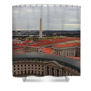 Washintgon Monument From The Tower Of The Old Post Office Tower Shower Curtain