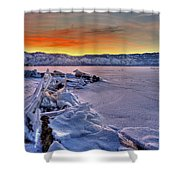 Washoe Ice Shower Curtain