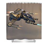 Wasp Fighter Shower Curtain